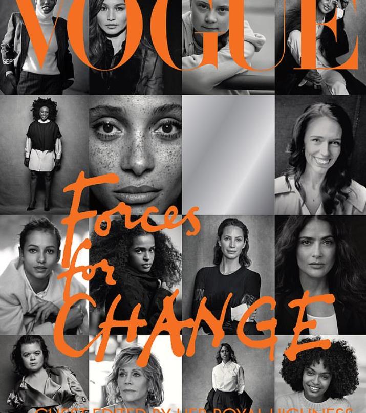 שער מגזין ווג בעריכת מייגן צילום מסך