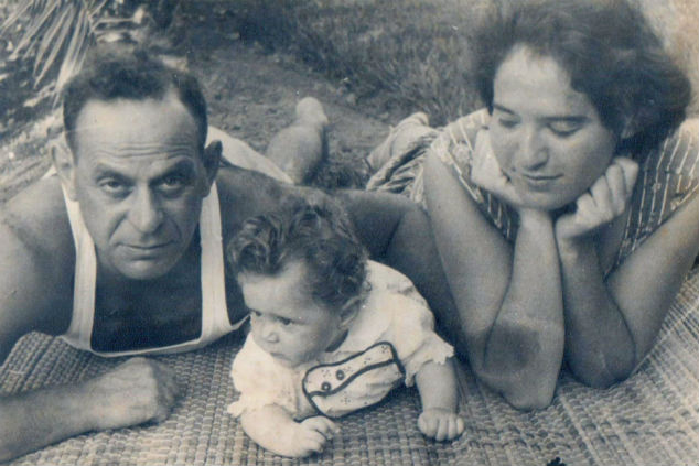 נטע ענבר סבן תינוקת עם הוריה (צילום: אלבום פרטי)