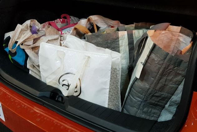 קניות של שבוע של משפחה שלמה נכנסו בקלות לתא המטען (צילום פרטי)