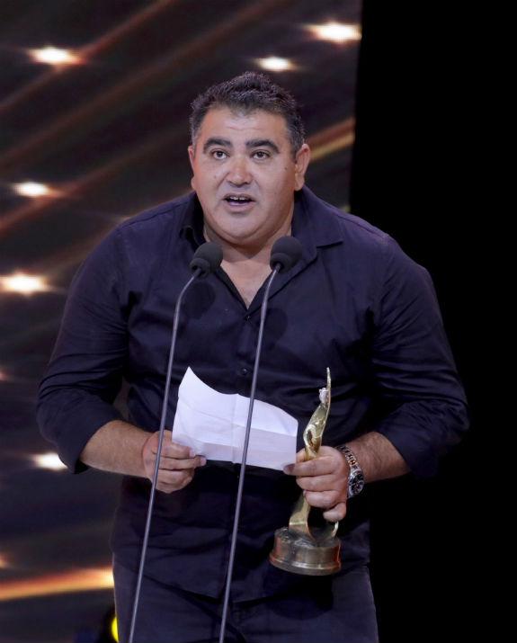 ערן נעים זוכה בפרס אופיר לשחקן הראשי (צילום: איציק בירן באדיבות האקדמיה הישראלית לקולנוע וטלוויזיה)