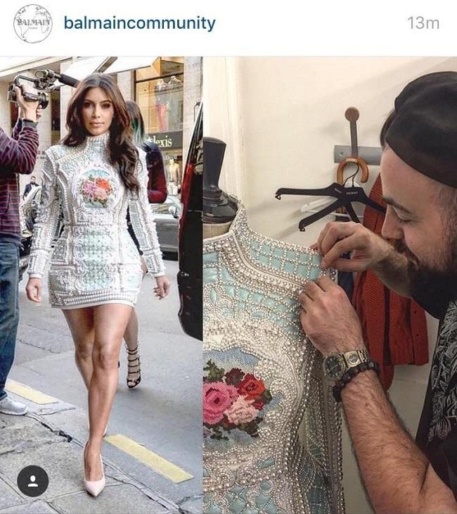אריאל טולדנו בבית האופנה בלמיין  צילום מסך אינסטגרם
