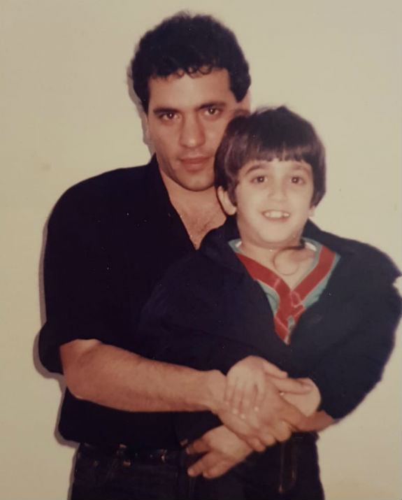 בן לאון בילדותו בפסטיבל יחד עם דני רובס (צילום: אלבום הפרטי)