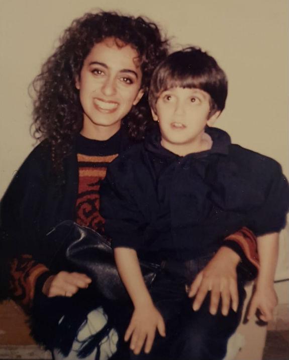 בן לאון בילדותו בפסטיבל יחד עם ריטה (צילום: מהאלבום הפרטי)