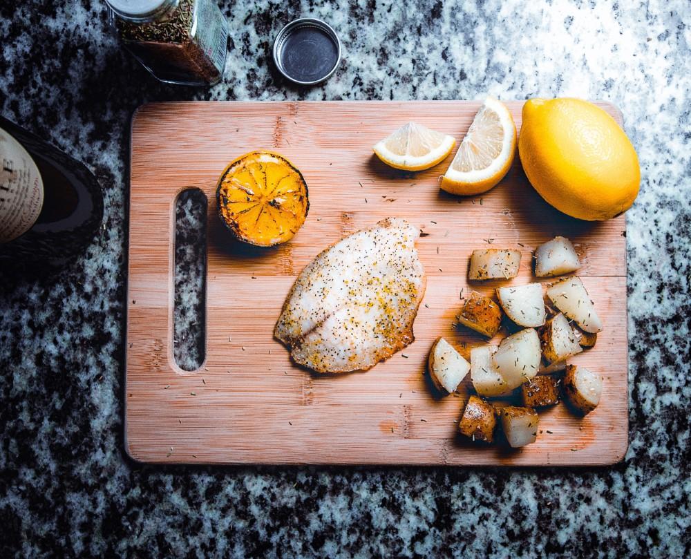 פילה אמנון בתנור בתערובת תיבול פלפל לימון