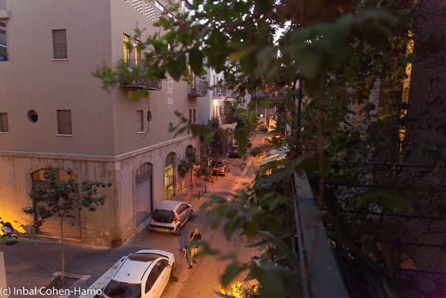 מראה מהמרפסת אל רח' רבי חנינא