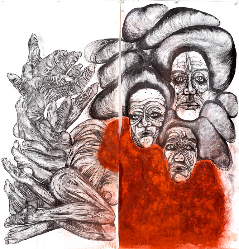 """Frau in  Red - """"גברות באדום"""" של רועי חפץ בתערוכה בבית טיכו"""