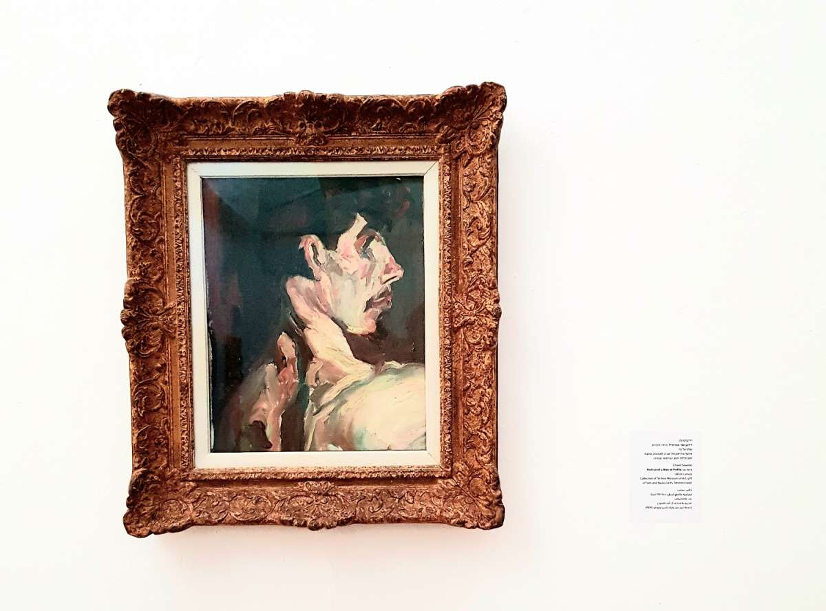 דיוקן גבר בפרופיל, 1913 אוסף מוזיאון תל אביב לאמנות צילום קרן פרגו