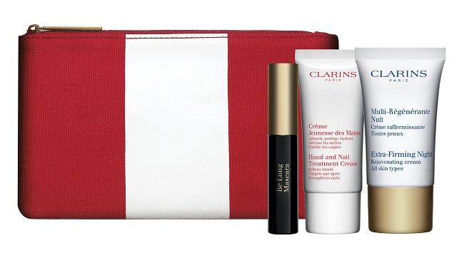 Clarins day 22.10.14 תיק מהודר עם 3 מוצרים מוקטנים בקניה מעל 349שח צילום דיוויד מוריס (2) (Custom)