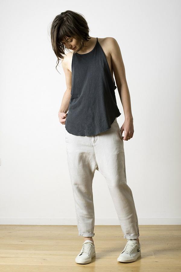 was trousers + bib tank