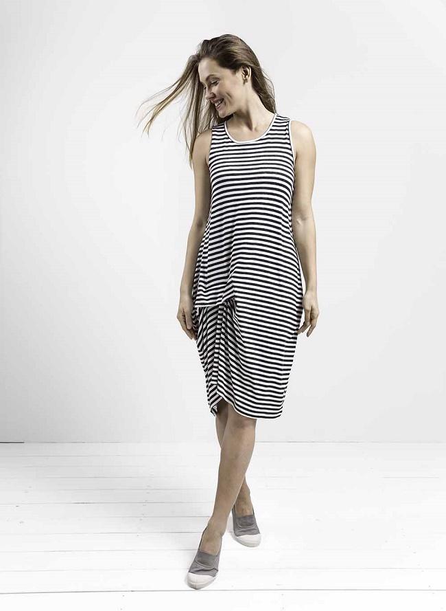 CO.CO קיץ 16 שמלת טרייבקה-פסים אפורים-250שח-צילום יעל צחור
