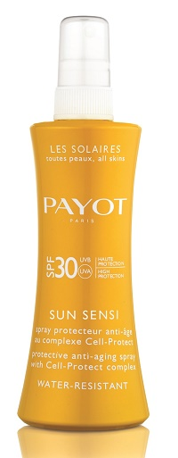 payot sun spary 30spf פאיו הגנה שמש לגוף מחיר 89 שח ל 125 מל  צילום חול