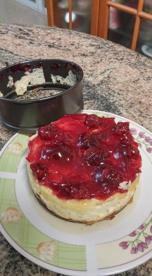 עוגת שמנת חמוצה אפויה לבלוג