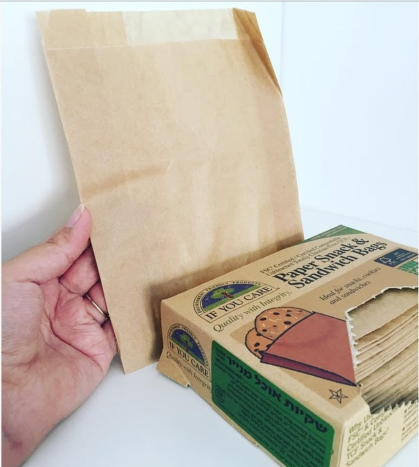 שקיות אוכל מנייר אורגני לכריכי בית הספר