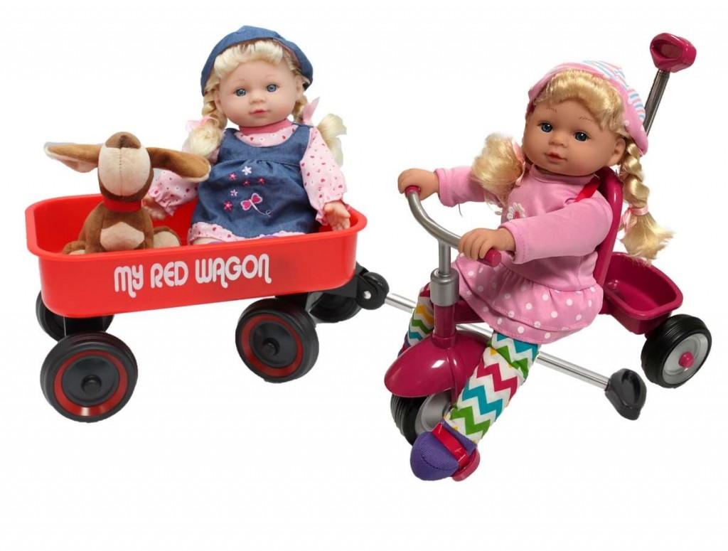 טופ פליי ישראל - בובות על כלי חחבורה - תלת אופן ועגלה, במותג קיד קונספט,   מחיר - 149 שח .  צילום - טופ פליי
