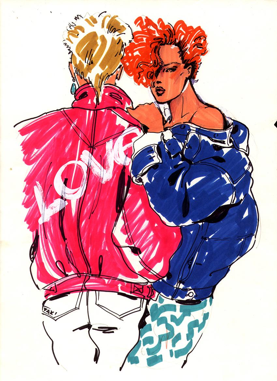 הצבעים הלוהטים של שנות ה-80 // ריקי בן ארי - אופנה בקו