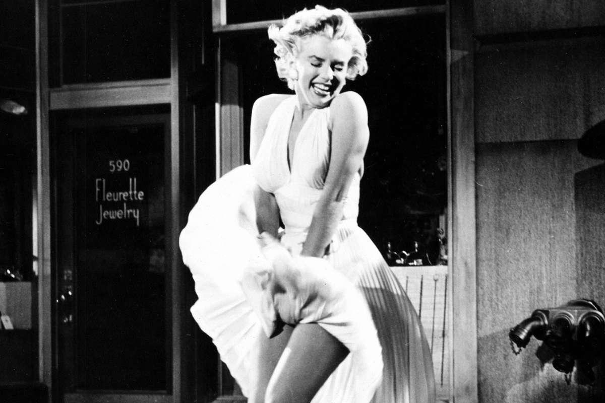 מרלין מונרו שמלה לבנה