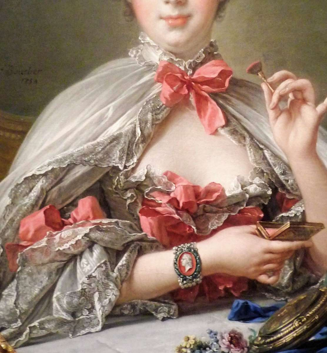 madame pompadour wearing bows