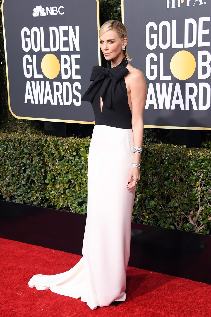 Charlize Theron in Dior Haute Couture Golden Globe Awards