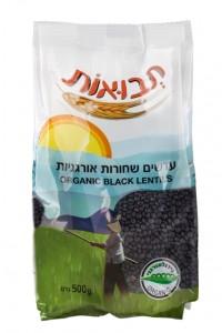 תבואות - עדשים שחורות אורגניות  צילום - אנטולי מיכאלו