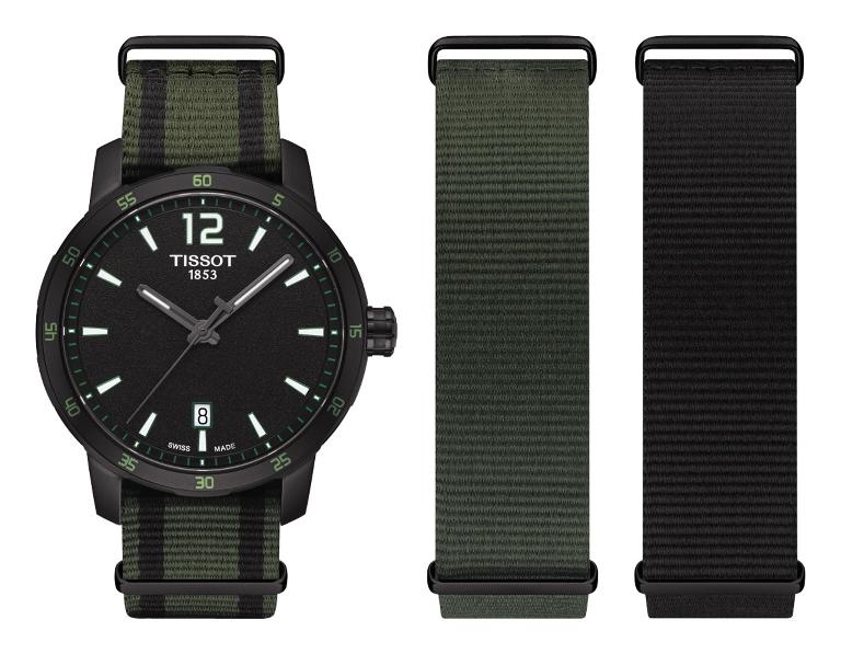 שעון טיסו quickster lugano מחיר 1690 שח- קרדיט יחצ חול  טרנד רצועות NATO