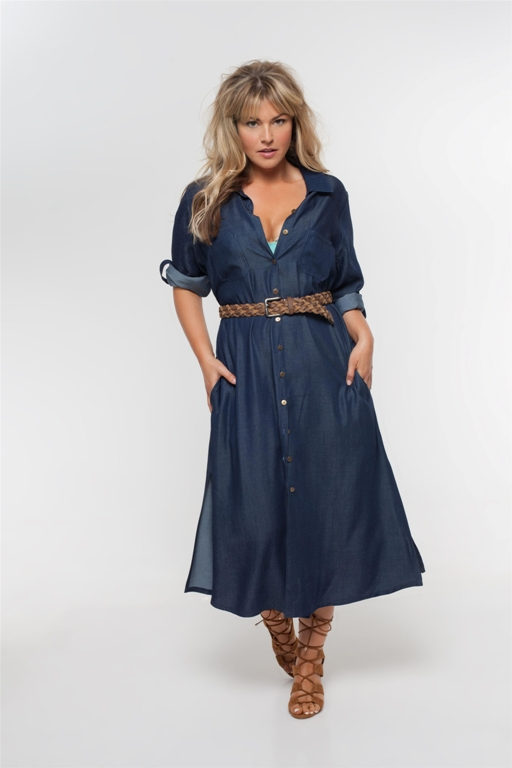 שמלת מקסי גינס