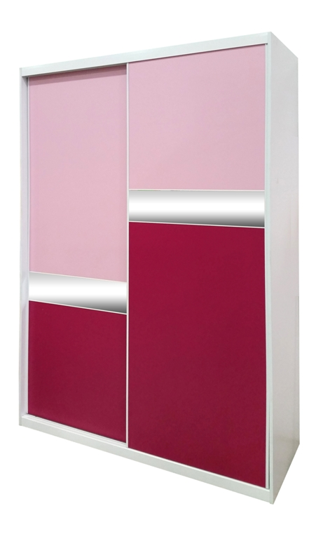 ארון הזזה בגוון ורוד של רהיטי דורון מחיר למידה 160 1800 שח מחיר למידה