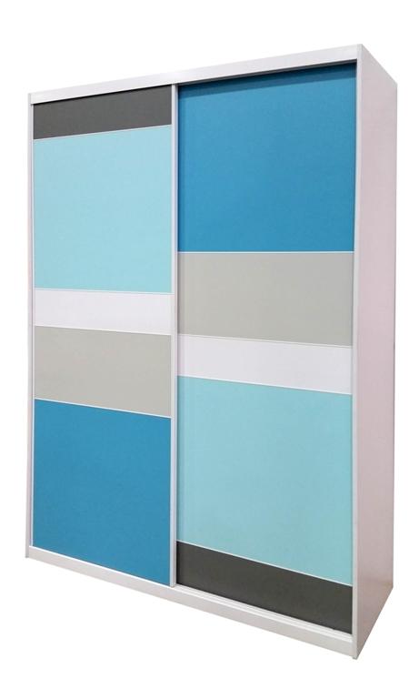 ארון הזזה כחול עם בהירות של רשת רהיטי דורון מחיר למידה 160 1800 שח מח