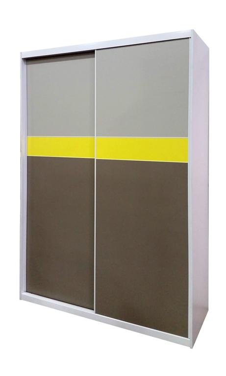 ארון הזזה של רהיטי דורון בגוון אפור מחיר למידה 160 1800 שח מידה 240 כו