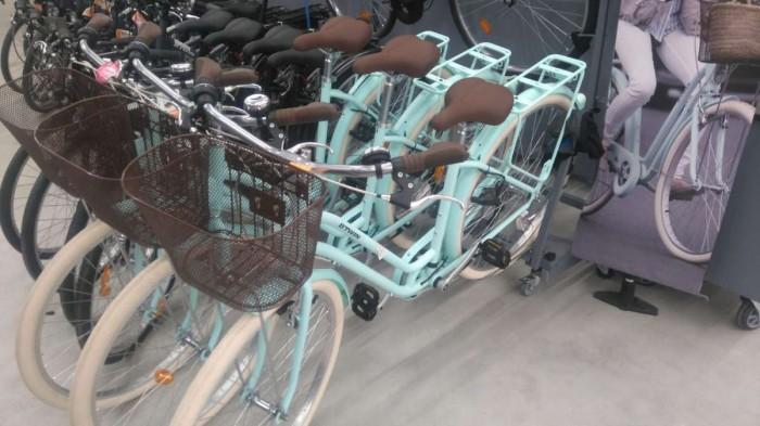 אופניים עם סל, כמו אירופה.  דקטלון  צילום:נטע פלג