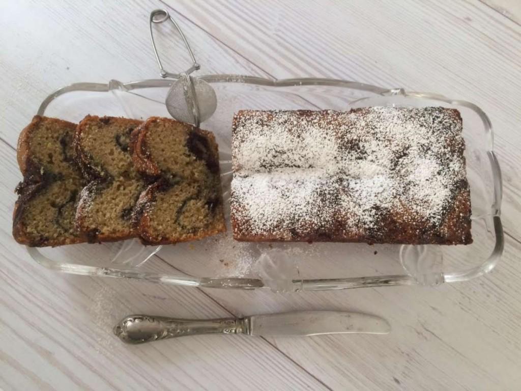 עוגת שיש פירות יער פרוסה 3