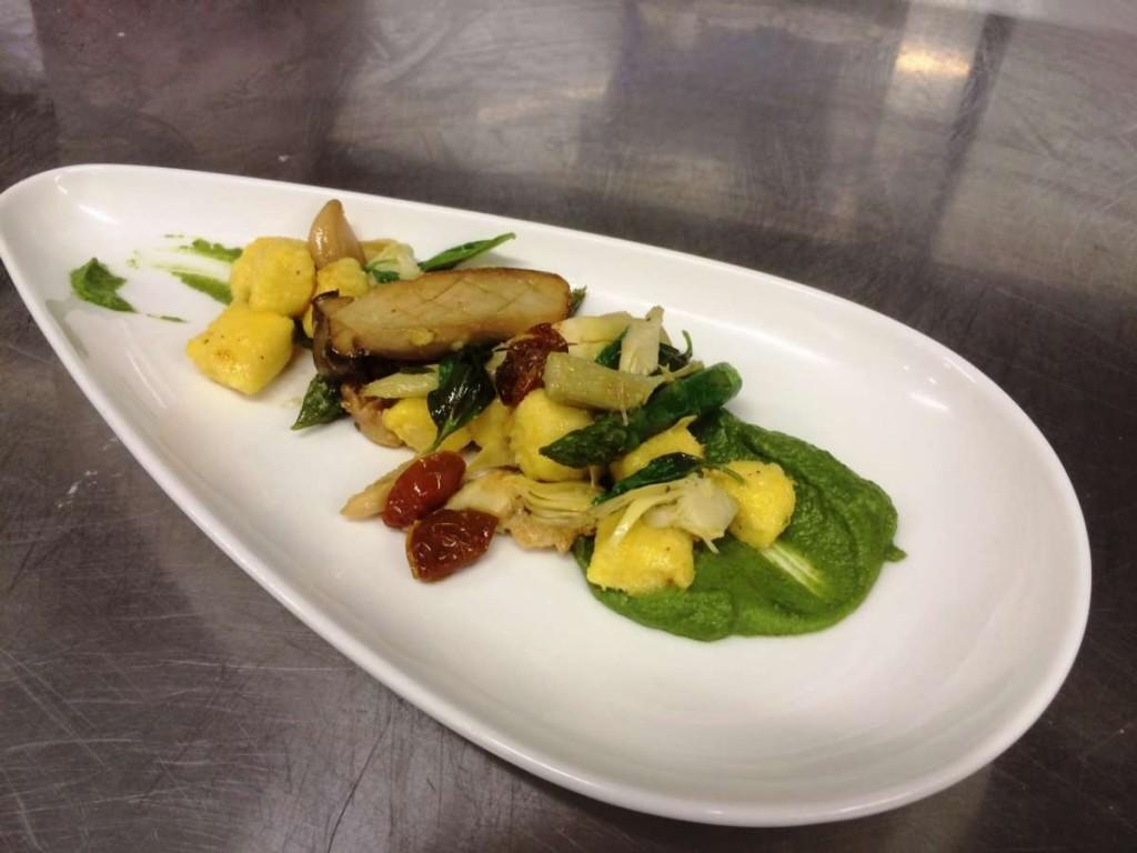 ניוקי תירס עם ירקות - קואטרו
