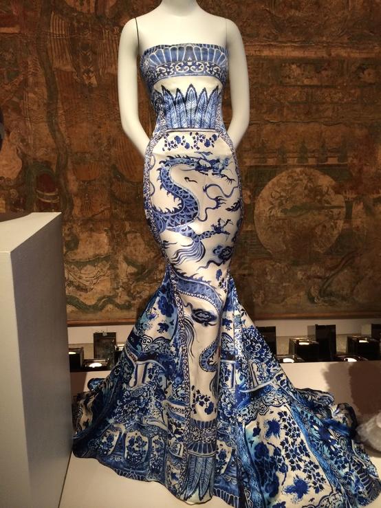 Satin evening dress by Roberto Cavalli AW 2005 6