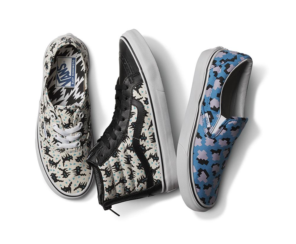 נעלי VANS בשתפ עם האמן אילי קישימוטו מצויירות מחיר 399-499 שח (1)