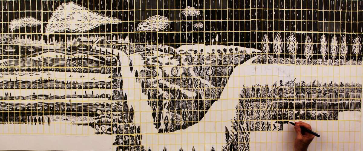 דימוי של עמית טריינין מתוך התערוכה יריח מודבק, גבירול_צילום עמיחי ביקובסקי