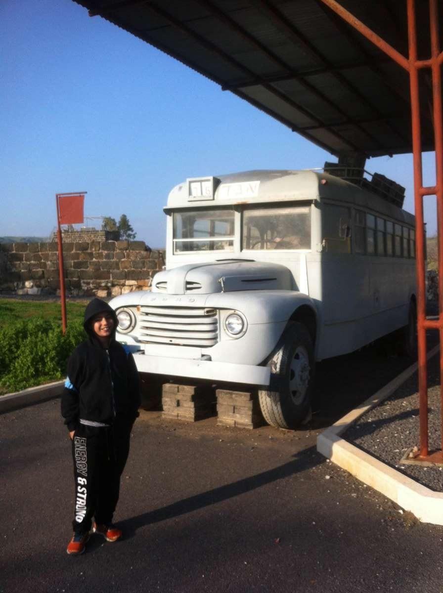 תחנת האוטובוס הראשונה בכניסה לישראל